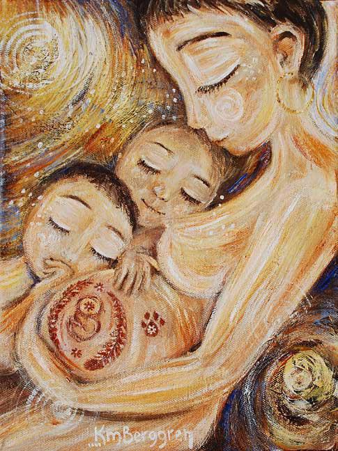 pintura-mulher-com-filhos